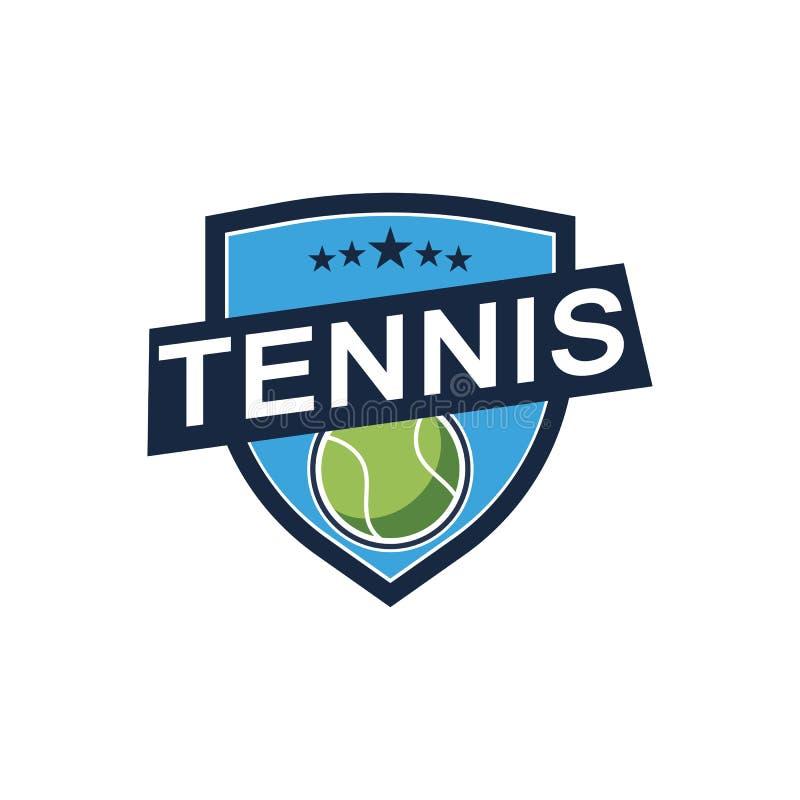 Дизайн значка логотипа спорта тенниса, шаблон значка иллюстрация штока