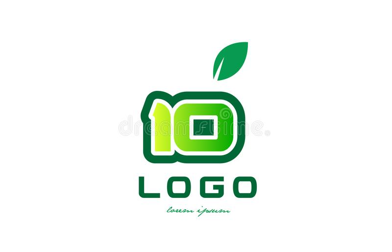 Дизайн значка логотипа числа цифра 10 иллюстрация вектора