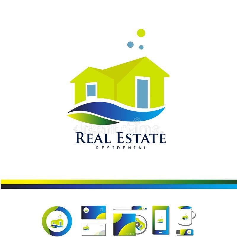 Дизайн значка логотипа виллы дома недвижимости бесплатная иллюстрация