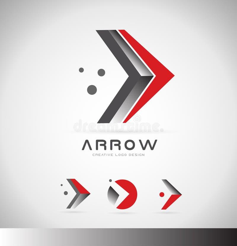 Дизайн значка логотипа концепции стрелки передний бесплатная иллюстрация