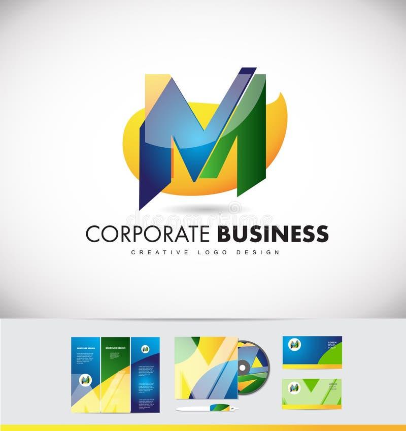 Дизайн значка логотипа письма m алфавита бесплатная иллюстрация