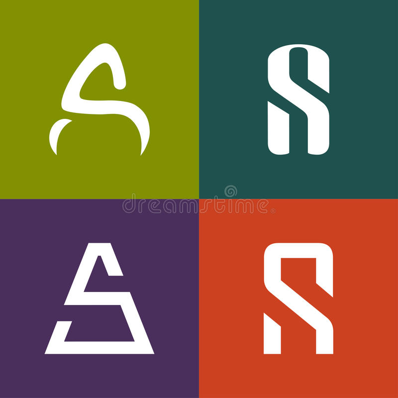 Дизайн значка логотипа письма S a иллюстрация вектора