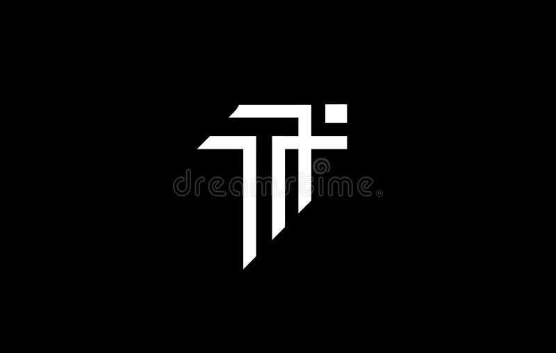 Дизайн значка логотипа письма t алфавита иллюстрация штока