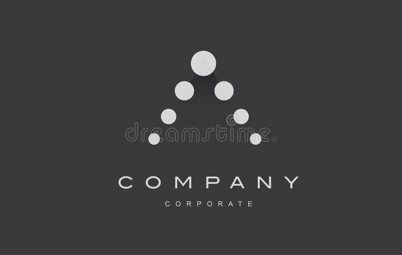 Дизайн значка логотипа точки письма a алфавита бесплатная иллюстрация