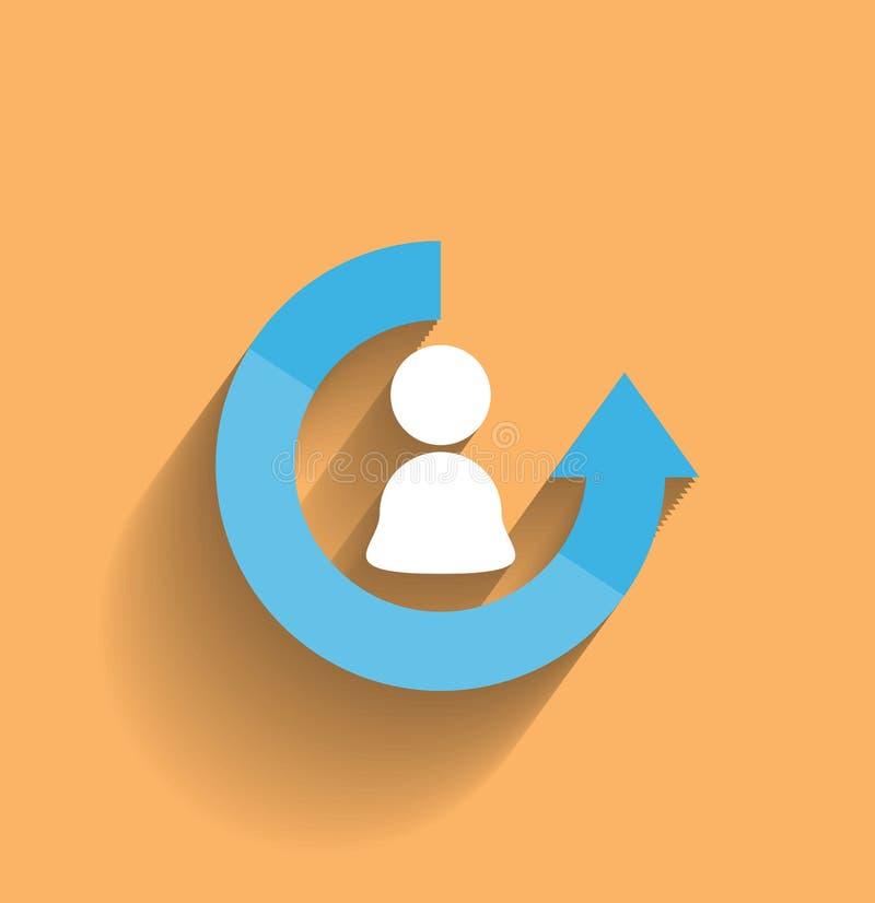 Дизайн значка потребителя вектора современный плоский иллюстрация штока