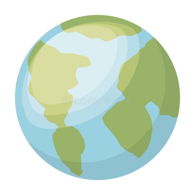Дизайн значка планеты изолированный землей бесплатная иллюстрация