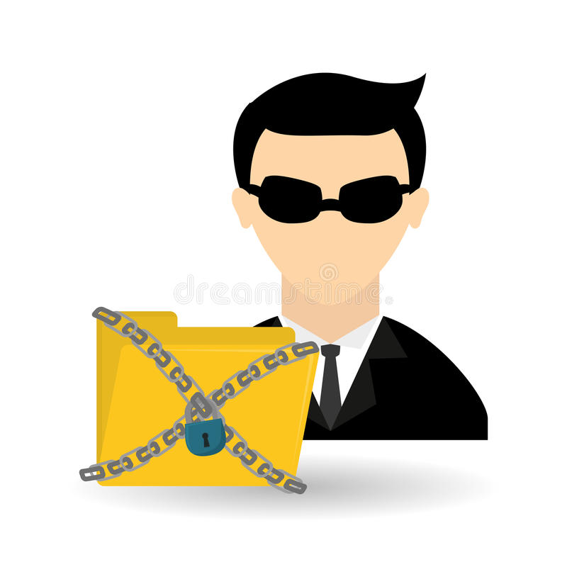 Дизайн значка хакера, иллюстрация вектора иллюстрация штока