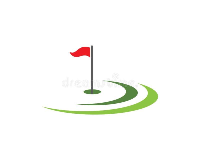 Дизайн значка шаблона логотипа гольфа иллюстрация штока