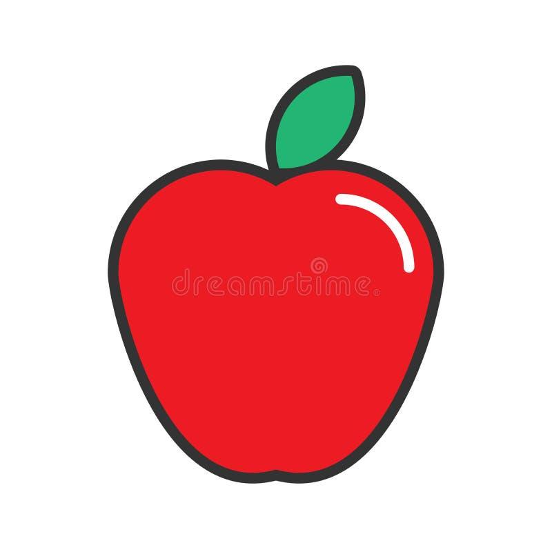 дизайн значка яблока иллюстрация штока