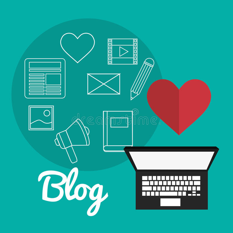 Дизайн значков блога бесплатная иллюстрация