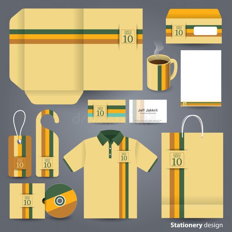 Дизайн дизайна канцелярских принадлежностей установленный иллюстрация штока