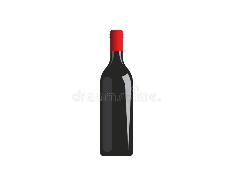 дизайн иллюстрации вектора значка логотипа бутылки вина иллюстрация штока