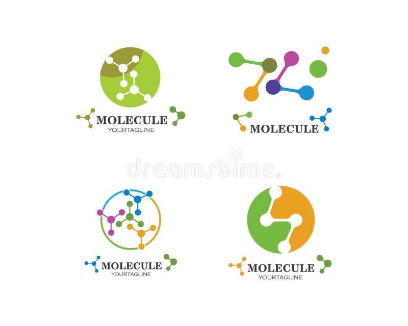 дизайн иллюстрации вектора логотипа молекулы иллюстрация штока
