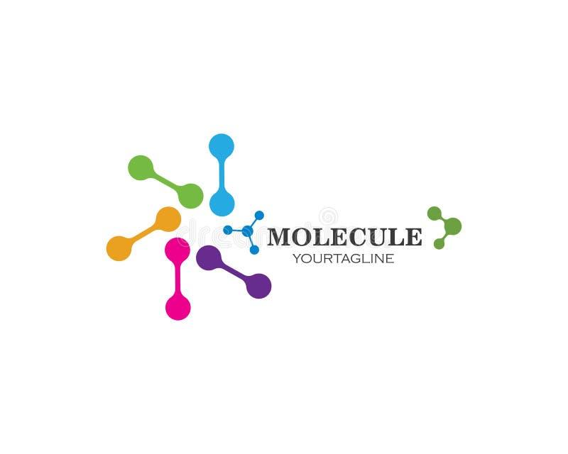 дизайн иллюстрации вектора логотипа молекулы бесплатная иллюстрация