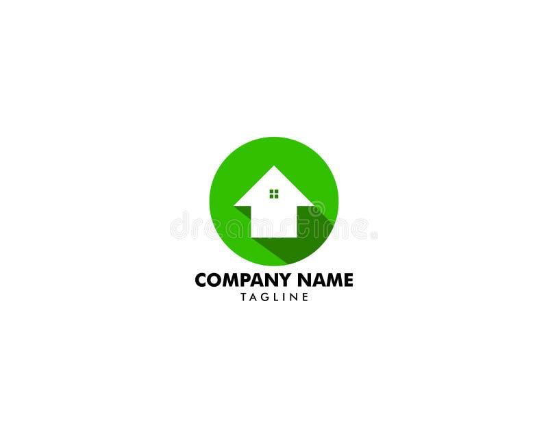 Дизайн иллюстрации вектора шаблона логотипа круга дома, домашний значок, плоский дизайн иллюстрация штока