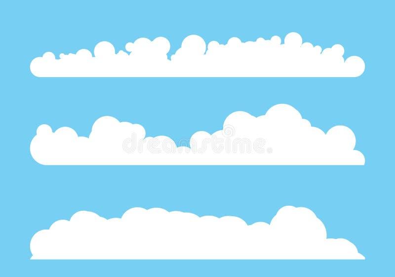Дизайн иллюстрации вектора шаблона облака иллюстрация вектора