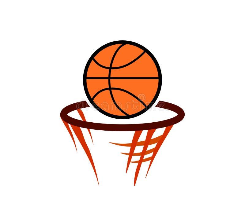 Дизайн иллюстрации вектора эмблемы лиги баскетбола сети классический иллюстрация штока