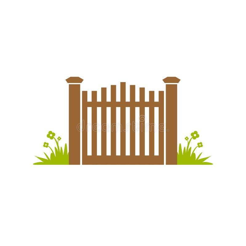 Дизайн иллюстрации загородки ворот сада стоковые изображения