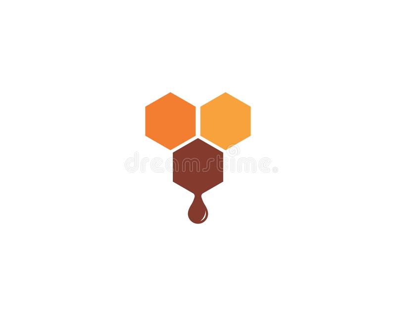 Дизайн иллюстрации значка вектора шаблона логотипа пчелы иллюстрация штока