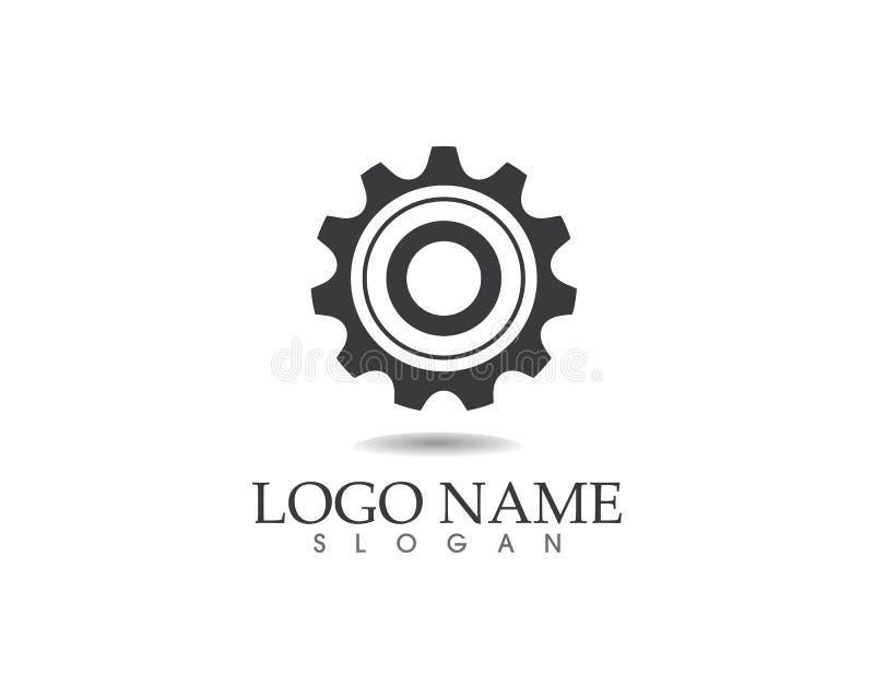 Дизайн иллюстрации значка вектора шаблона логотипа шестерни иллюстрация штока