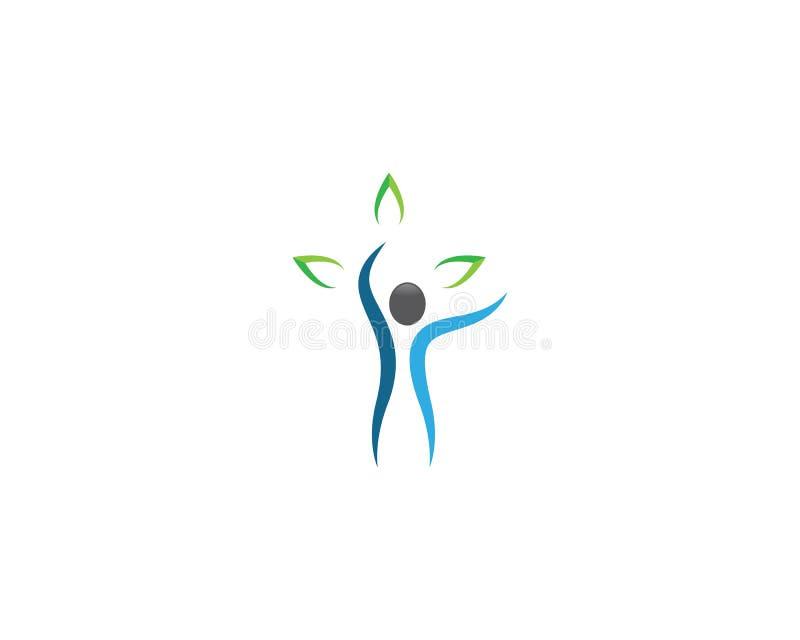 Дизайн иллюстрации символа здоровий человека иллюстрация штока