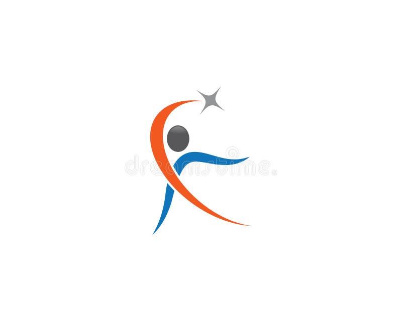 Дизайн иллюстрации символа здоровий человека стоковые изображения rf