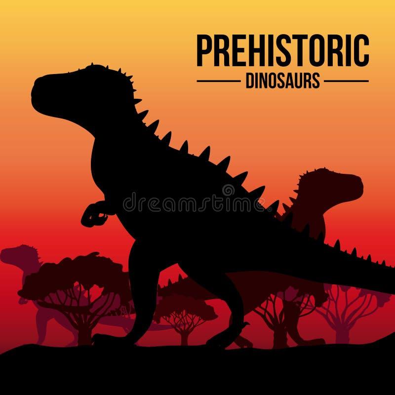Дизайн динозавра иллюстрация вектора