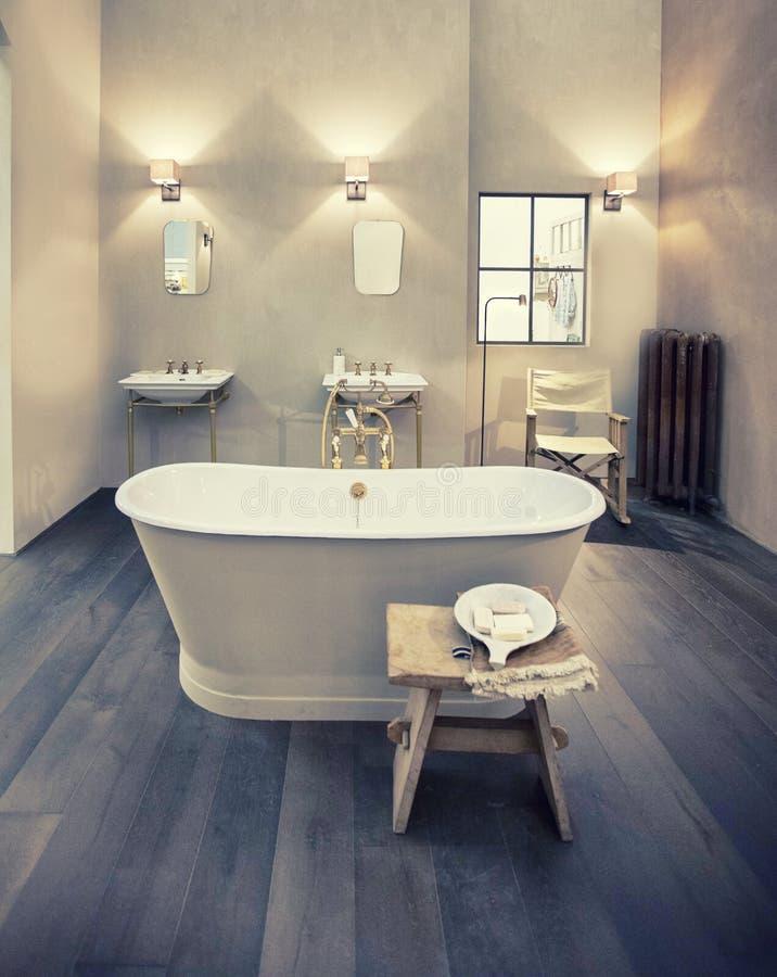 Дизайн интерьера ванной комнаты стоковые изображения
