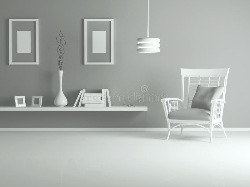 Дизайн интерьера самомоднейшей живущей комнаты иллюстрация вектора