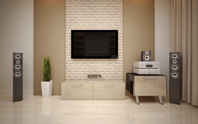 Дизайн интерьера. Современная живущая комната стоковые изображения