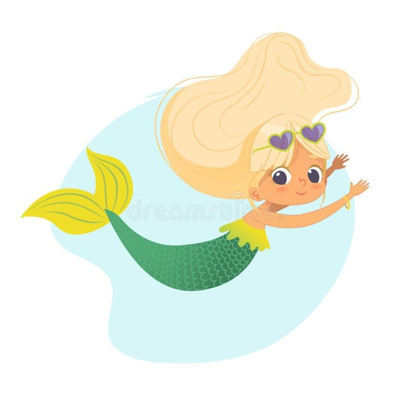 Дизайн искусства характера моря девушки русалки красивый бесплатная иллюстрация