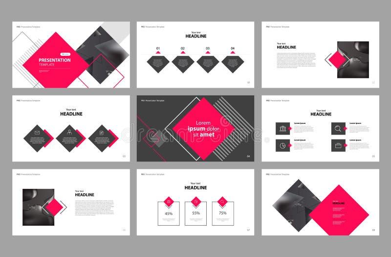 Дизайн и польза шаблона постраничного макета представления дела для брошюры, книги, журнала, годового отчета и направления компан иллюстрация вектора