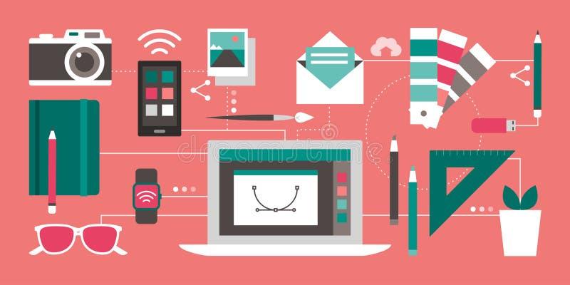 Дизайн и технология иллюстрация штока