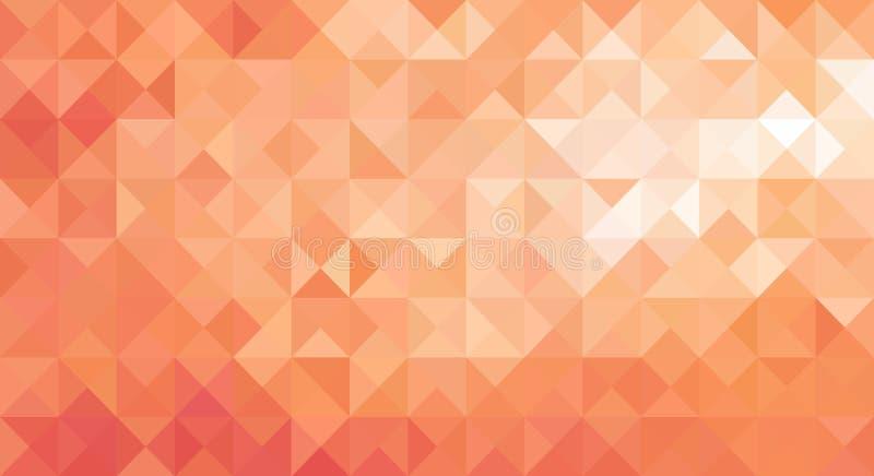 Дизайн иллюстрации вектора предпосылки мягкого оранжевого низкого поли треугольника острый абстрактный бесплатная иллюстрация