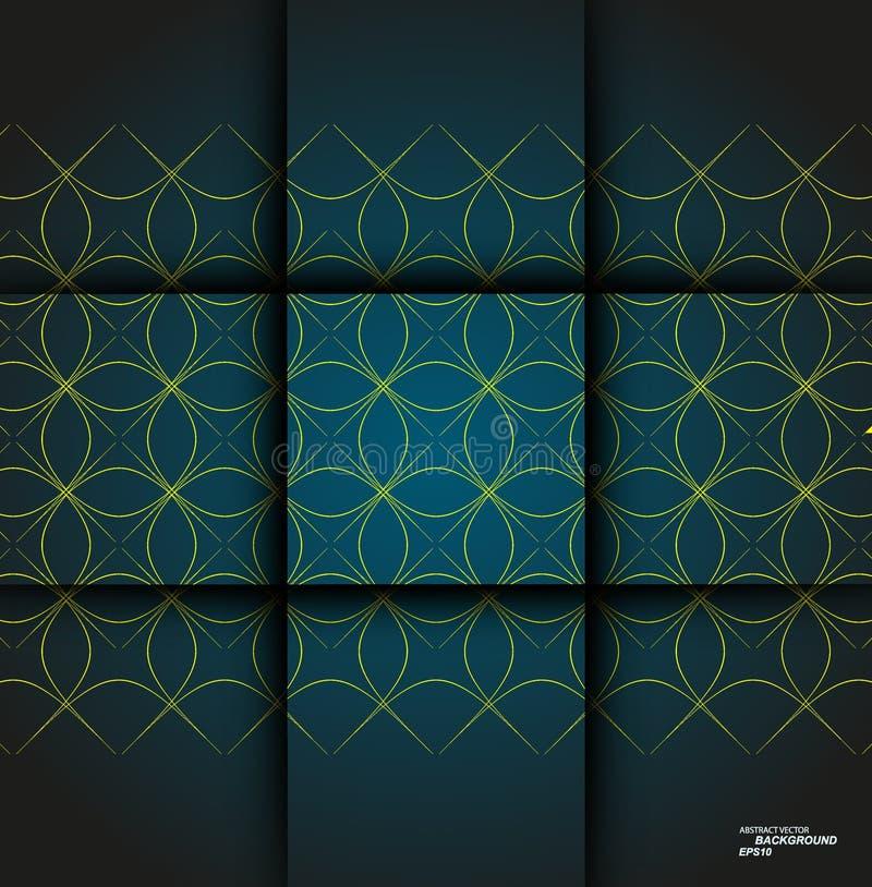 Дизайн иллюстрации вектора minimalistic Абстрактное украшение предпосылки картины иллюстрация штока