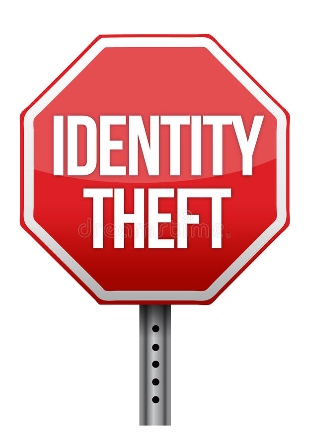 Дизайн иллюстрации знака кражи личных данных иллюстрация штока