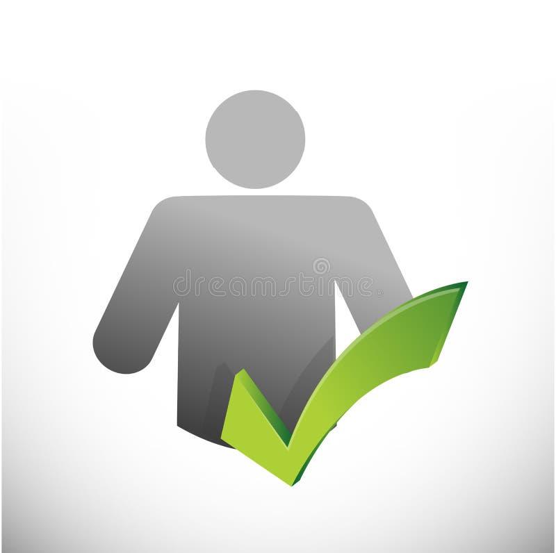 Download Дизайн иллюстрации контрольной пометки значка Иллюстрация штока - иллюстрации насчитывающей возможность, green: 33729514