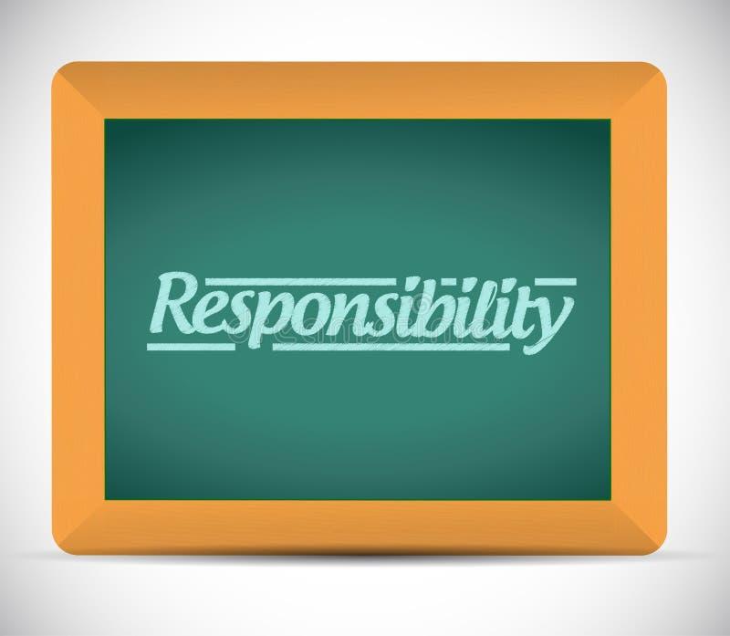 Дизайн иллюстрации сообщения ответственности бесплатная иллюстрация