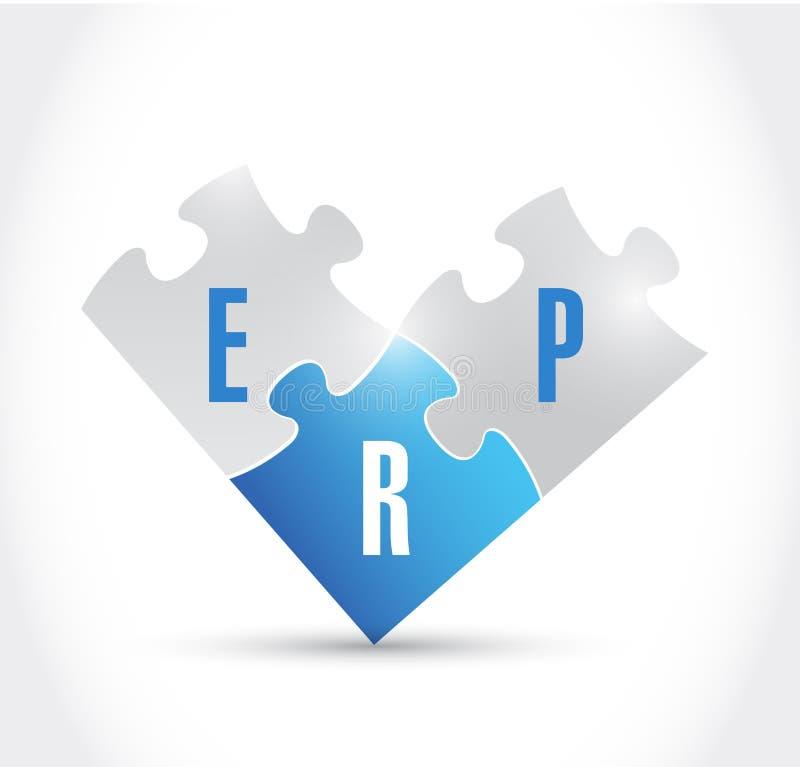 Дизайн иллюстрации частей головоломки Erp иллюстрация штока