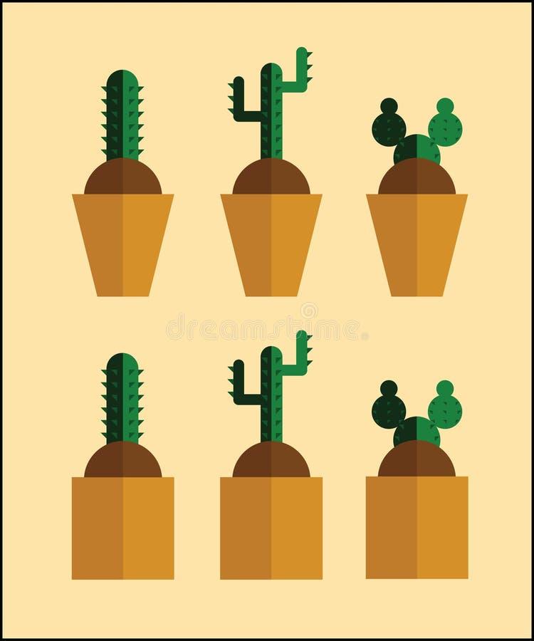Дизайн кактуса плоский для вас стоковая фотография rf
