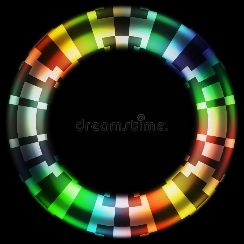 Дизайн камуфлирования цифров колеса цвета черной дыры бесплатная иллюстрация