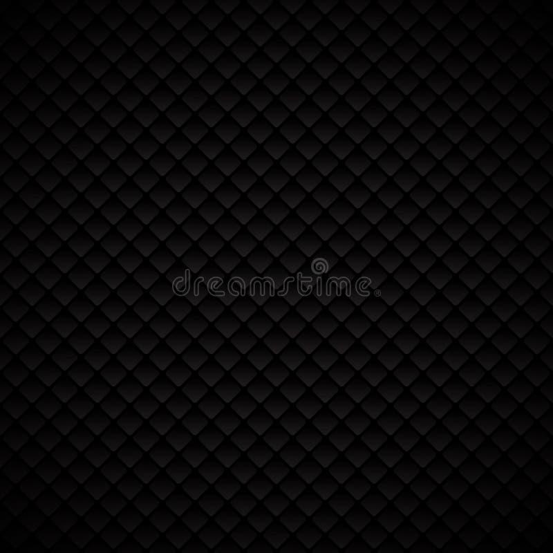 Дизайн картины квадратов конспекта роскошный черный геометрический на темном b иллюстрация штока