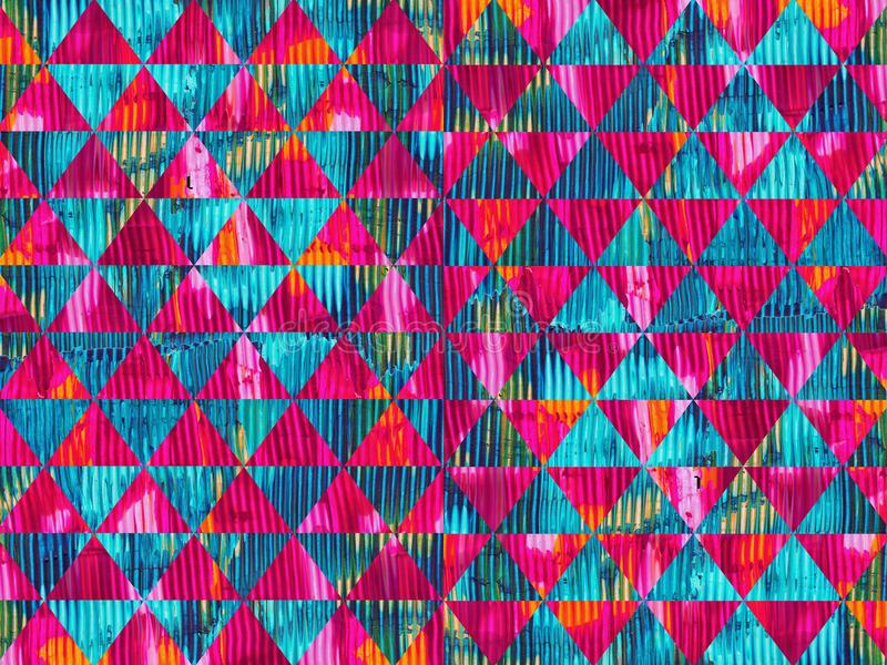 Дизайн картины красочных треугольников текстуры краски масла безшовный иллюстрация вектора