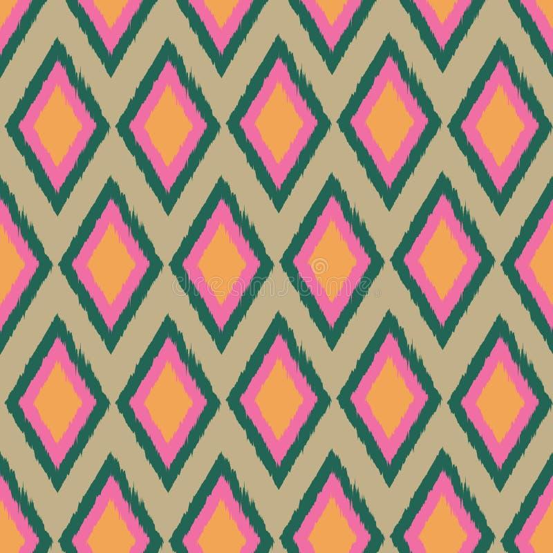 Дизайн картины повторения ikat диаманта безшовный бесплатная иллюстрация