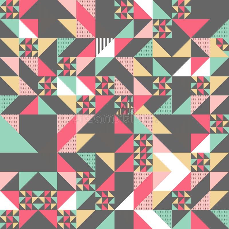 Дизайн картины текстуры треугольника красочный иллюстрация вектора