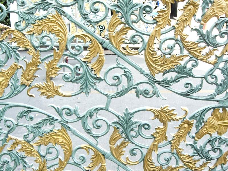 Дизайн картины цветка сплава или металлического строба стоковые изображения