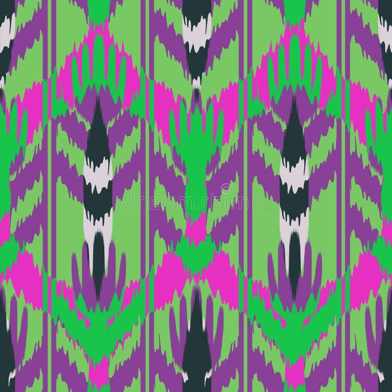 Дизайн картины Ikat безшовный для ткани бесплатная иллюстрация