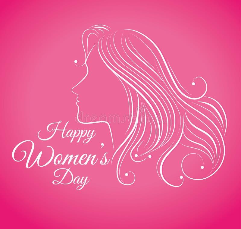 Дизайн карточки дня женщин, иллюстрация вектора иллюстрация штока