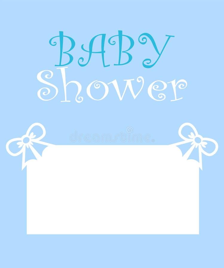 Дизайн карты приглашения партии детского душа Милая и прекрасная карта младенца иллюстрация вектора