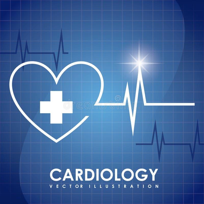 Дизайн кардиологии иллюстрация штока